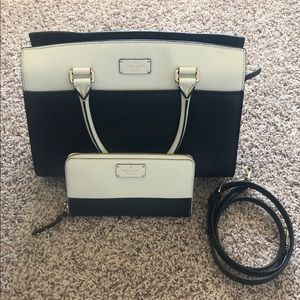 Black & White Purse with matching wallet